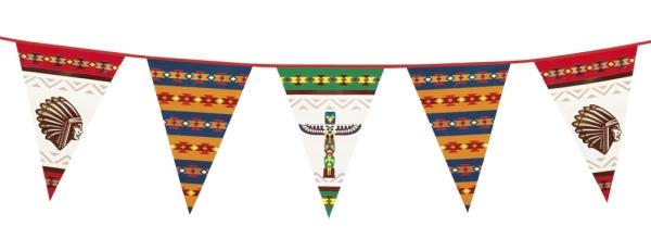 XL-Wimpelkette Indianer Fest, 6 Meter
