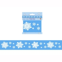 Absperrband Schneeflocken, 6 m lang, 7,5 cm hoch