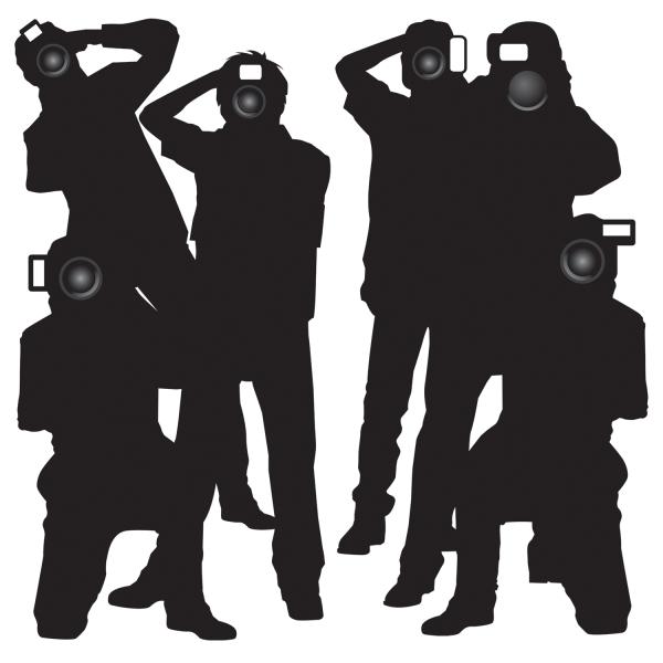 Party-Extra Dekofolie Paparrazzi - Hollywood Deko