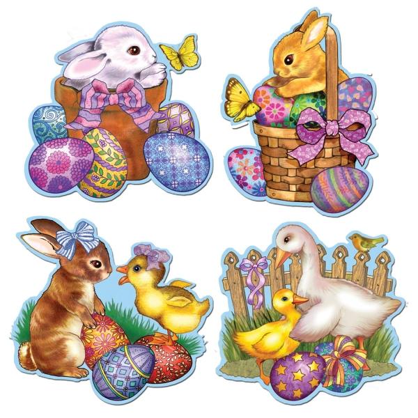 Cutout Set Ostern auf dem Lande - Osterdeko