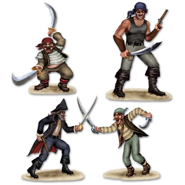Dekofolien Wilde Piratenmeute - Piratenparty Deko