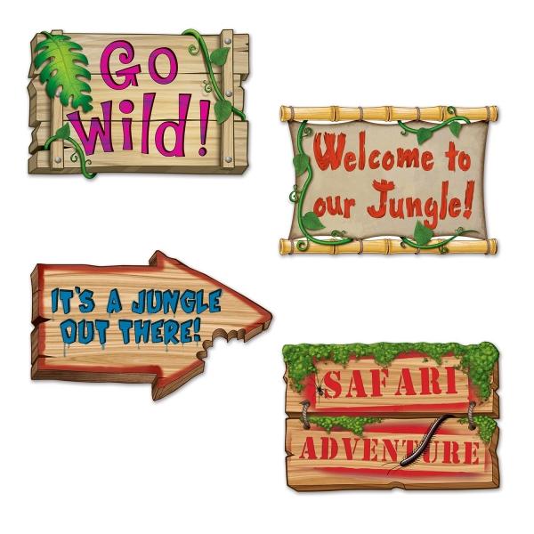 Dekoschilder Safaripark - Dschungeldeko