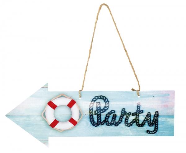 Dekoschild Maritime Party - Seefahrt Deko