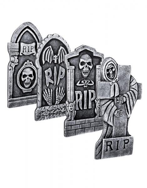 Deko-Grabstein RIP - 4 Designs sortiert - Friedhofsdeko