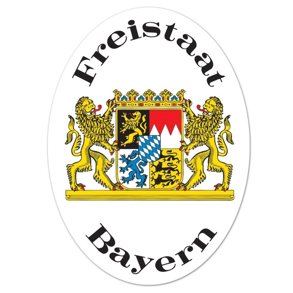 Party-Extra Cutout Schild Freistaat Bayern