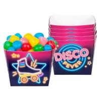 Pappschüssel Disco Fever, 6er Pack