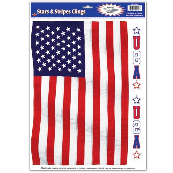 Fenster-Folie Star Spangled Banner - USA Deko
