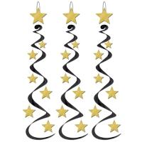 Party-Extra Dekohänger Golden Starlight, 3er Pack
