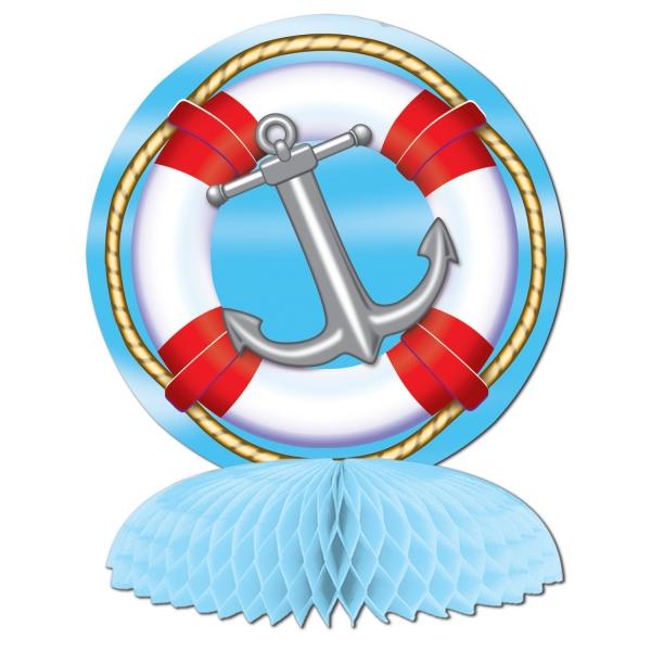 Tischdeko Rettungsring + Anker - Maritime Deko