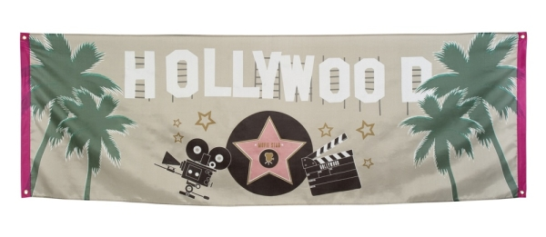 Party-Extra Riesen Stoff-Banner Hollywood