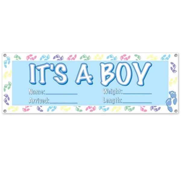 Mega-Partybanner It's a Boy - Babyparty Deko