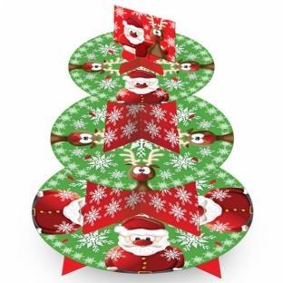 Cupcake-Ständer Rudolf + Santa, 35 cm hoch