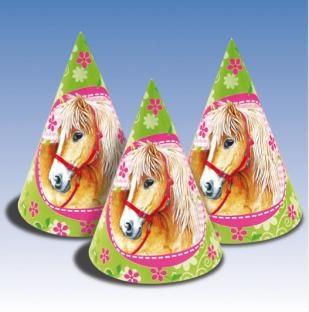 Partyhütchen Pferde-Party, 6er Pack