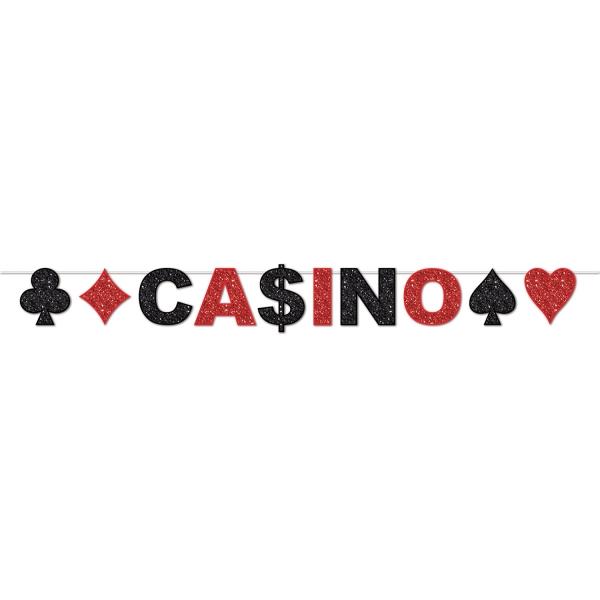 Glitzer-Girlande Casino - Las Vegas Deko