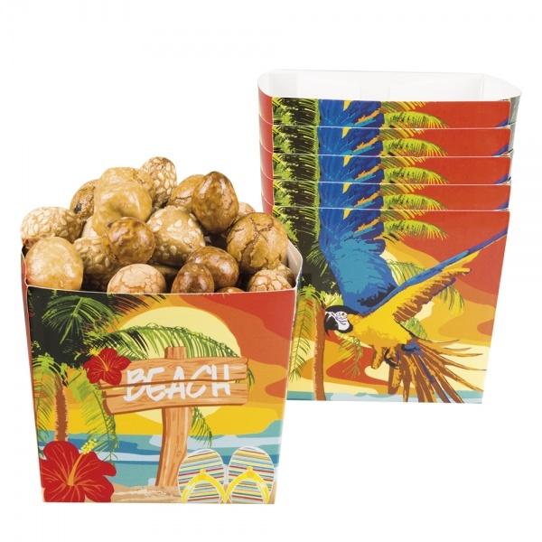 Pappschüssel Paradise Beach, 6er Pack