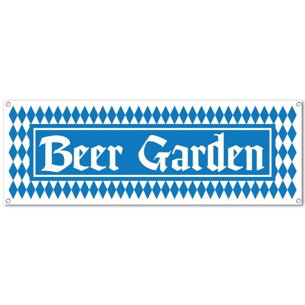 Party-Extra Mega-Partybanner Beer Garden - Oktoberfest Deko