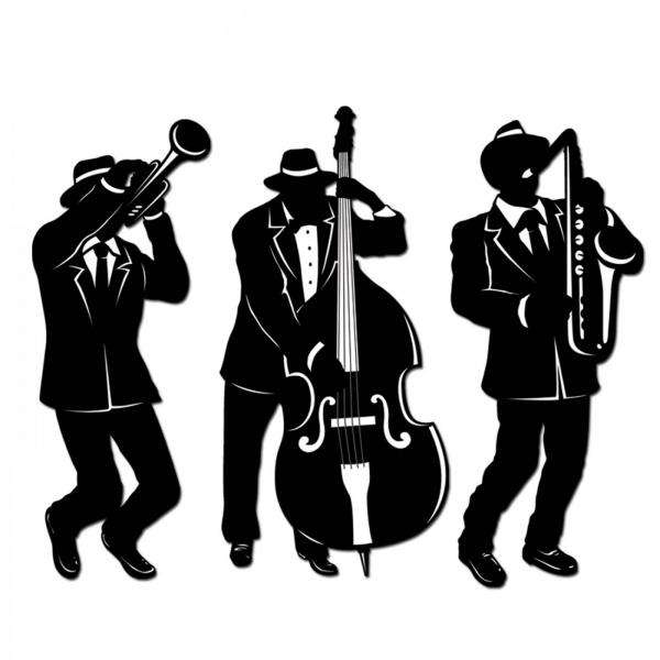 Jazz Trio Cutout-Figuren - Goldene 20er Jahre Deko