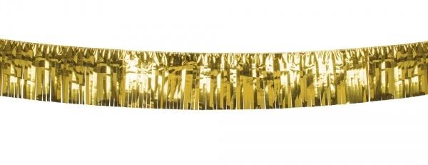 XL-Metallic Fransenbanner gold, 6 Meter