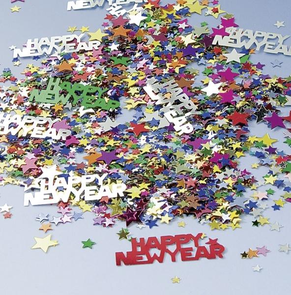 Party-Extra Tischkonfetti Happy New Year 15 g Silvester Tischdeko