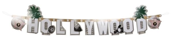 Buchstabengirlande Hollywood, 1,30 m lang