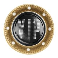 Pappteller VIP, 6er Pack