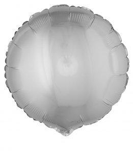 Folienballon rund, silber, 45 cm groß