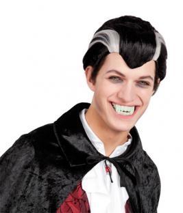 Perücke Vampir Graf - Vampirdeko