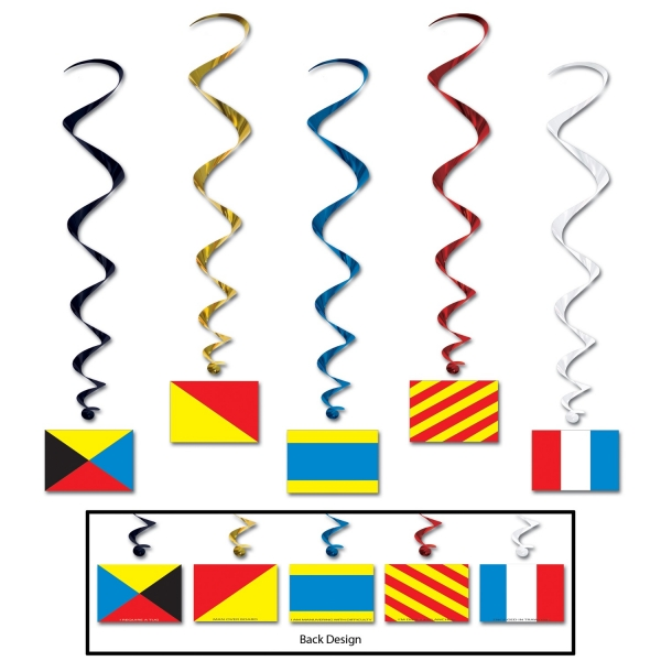 Deko-Spiralhaenger Signalflaggen - Maritime Deko
