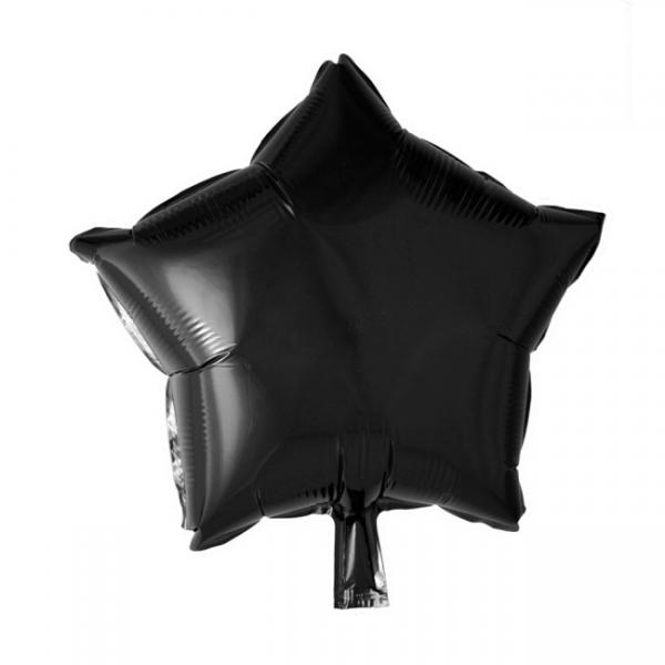 Folienballon Black Star - Schwarze Deko