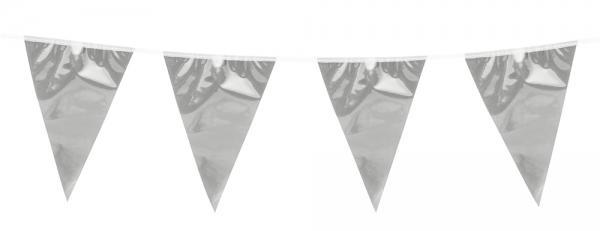 Metallic WImpelkette Silber