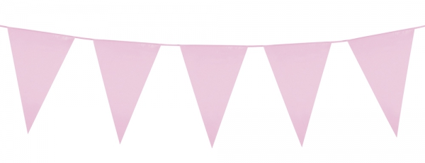 Party-Extra Standard Wimpelkette rosa, 6 Meter