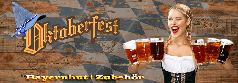 Oktoberfest 2019 Bayernhut + Zubehoer