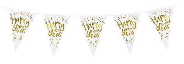 Wimpelkette Happy New Year - Silvester Deko