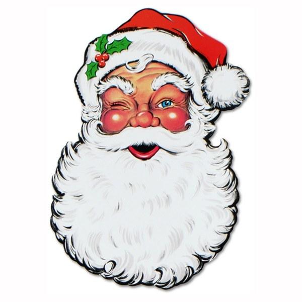 Riesen Cutout-Schild Weihnachtsmann - Weihnachtsdeko
