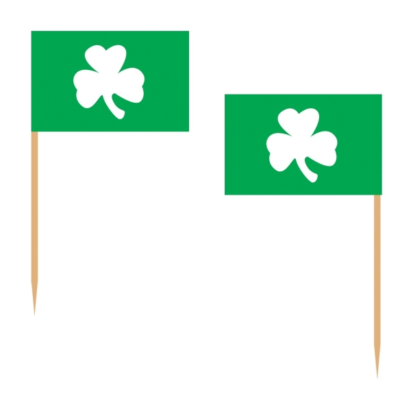 Flaggenpicker Shamrock - Irland Party Deko