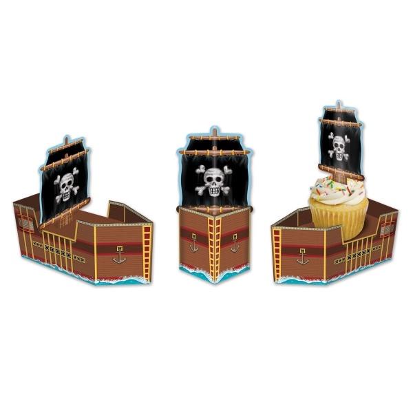 Tischdeko-Set Piratenschiff,, 3-teilig