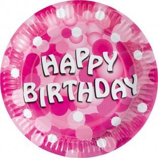 Pappteller Pinke Geburtstagsfeier