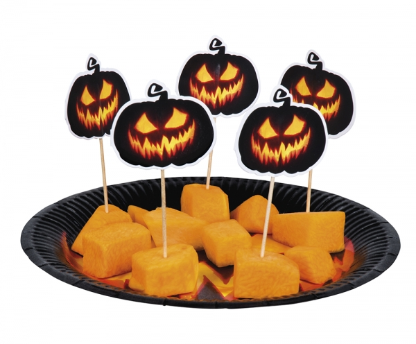 Cocktail-Sticks Spooky Pumpkin - Halloween Kuerbis Deko