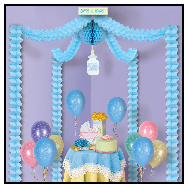 deko set it 39 s a boy girlanden je 3 m lang party extra. Black Bedroom Furniture Sets. Home Design Ideas
