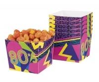 Pappschüssel 80er Jahre Party, 6er Pack