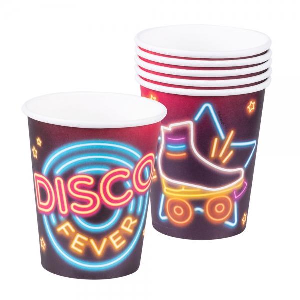 Pappbecher Disco Fever - Discoparty Tischdeko