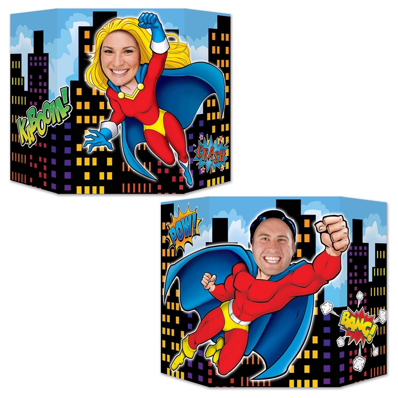 Fotowand aufsteller superhelden in unterhosen party extra - Fotowand aufsteller ...