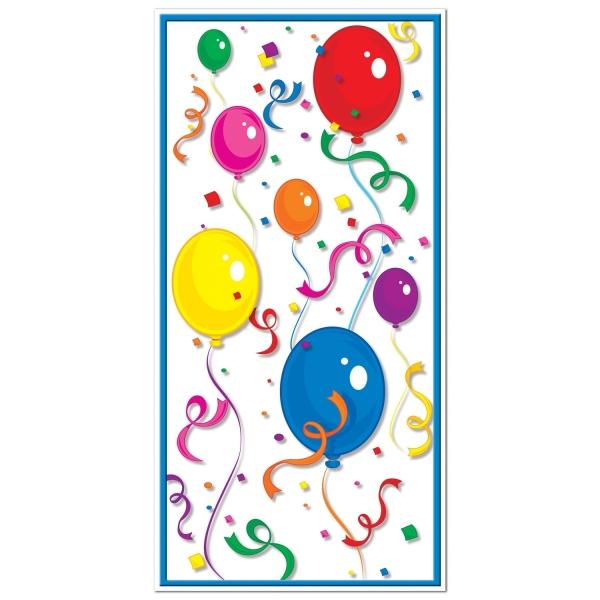 Tür-Dekofolie Bunte Ballons - Geburtstagsparty Deko