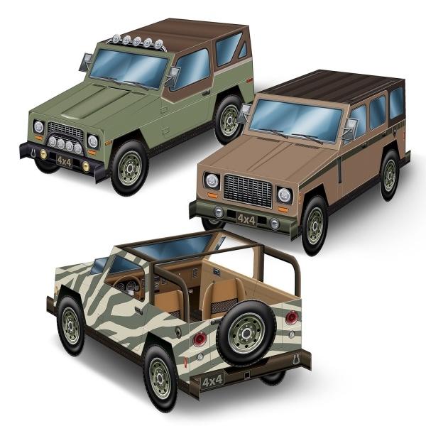 Party-Extra Tischdeko 3D SUV, 3er Pakc