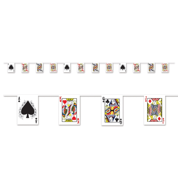 Flaggenkette Spielkarten - Las Vegas Casino Deko