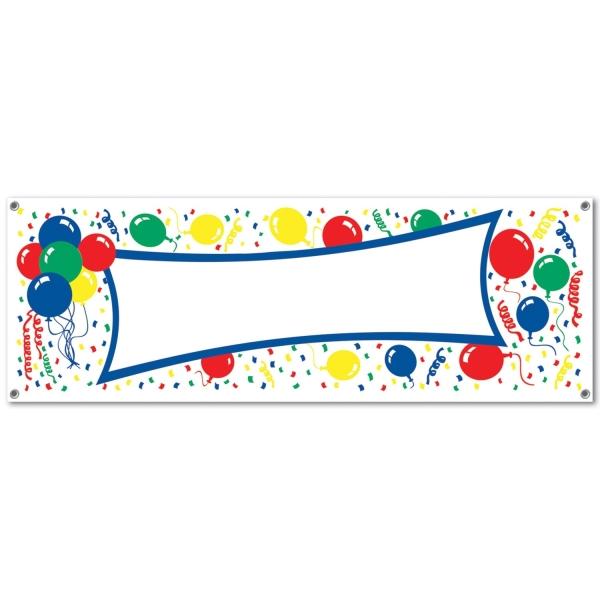 Party-Extrabanner, beschriftbar - Geburtstagsdeko