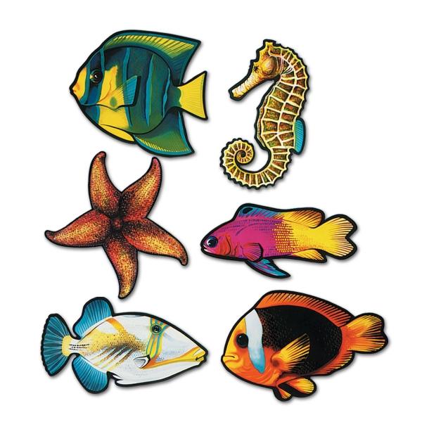 Cutout Set Südseefische - Unterwasserwelt Deko