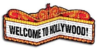tischdeko welcome to hollywood 99 cm breit 30 cm hoch hollywood vip deko mottoparty. Black Bedroom Furniture Sets. Home Design Ideas