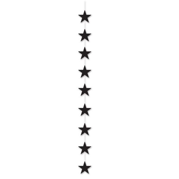 Sternkaskade schwarz, 190 cm lang