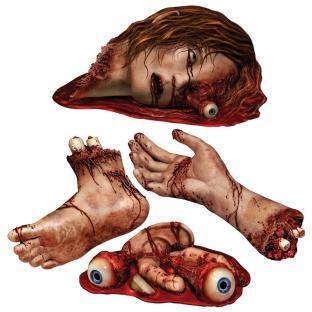Cutout Set Leichenteile - Halloween Gruseldeko